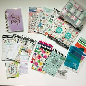 Mini Happy Planner Lot Stickers Covers Notebook Discs Paper Inspiration Cards