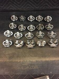 20 Qty Of 3 8 316 Stainless Steel Wire Rope Clips Cable Clamps
