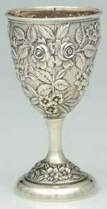 Schofield Silver Company Baltimore Rose Sterling Sterling Wine Goblet 11585986