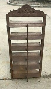Vintage Iron Damper Louvered Vent Salvaged Architectural