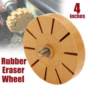 4 Rubber Eraser Wheel Tools Air Tire Buffer Glue For Electric Drill S7f6