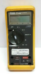 Fluke 77 an Digital Multimeter Unit Only Parts Or Repair Free Shipping
