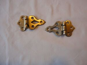 Antique Reproduction Brass Hinges For Ice Box Vintage Hardware