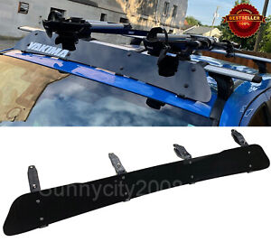 53 Black Roof Rack Wind Faring Deflector For Corss Bar Basket Fit Subaru Mazda