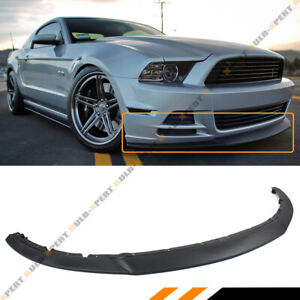 For 2013 2014 Ford Mustang R Style Lower Front Bumper Lip Chin Spoiler Splitter