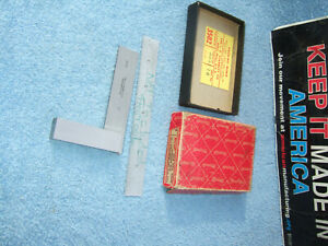 Starrett No 20 3 Used Inspection Square Vintage Toolmaker Machinist Clean Tool