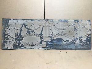 1pc Lot Of 36 By 12 Antique Ceiling Tin Vintage Reclaimed Salvage Art Craft