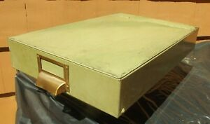 Vintage Metal Ship Map File Cabinet Lift Top Hinged Cover From Old Cargo Ship