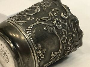 Antique Derby Silver Company Repousse 1506 Toothpick Holder 674