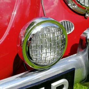 5 Spot Light Clear With Vintage Mesh Grille Light Sign For Porsche Vw Aac257