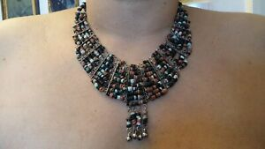 Ancient Vintage Collar Necklace Egyptian Revival Faience Ptolemaic Roman Beads