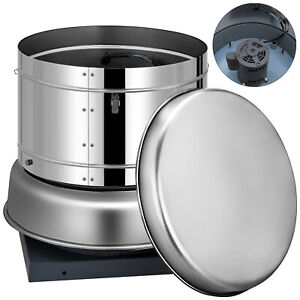 Restaurant Hood Roof Exhaust Fan 1400cfm Personal Room Kitchen 11 blade 560rpm