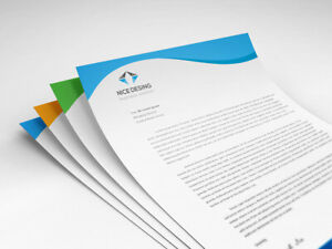 Full Color Letterhead Printed Front Side Only 8 5 X 11