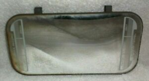 Vintage Automotive Vanity Visor Mirror W Service Record Travel Record Marking