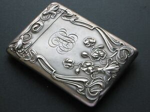 Blackinton Sterling Silver Card Case Box Art Nouveau