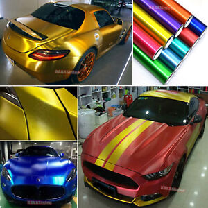 Car Satin Brushed Metal Steel Texture Chrome Aluminum Vinyl Wrap Sticker Abus