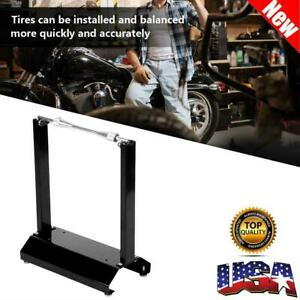 Motorcycle Black Wheel Balancer Balancing Stand Maintenance Rack Black