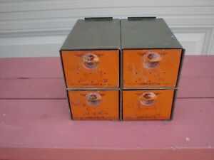 Dorman Products Add A Bin 4 Drawer Parts Storage Cabinet Good Condition