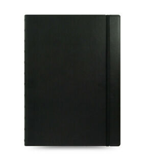 New Filofax A4 Size Refillable Leather look Ruled Notebook Diary Black 115022