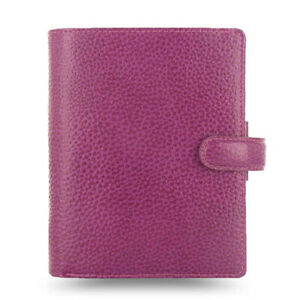 New Filofax Pocket Size Finsbury Organiser Diary Raspberry Leather 025342