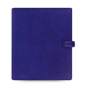 New Filofax A5 Finsbury Organiser Planner Diary Electric Blue Leather 022500