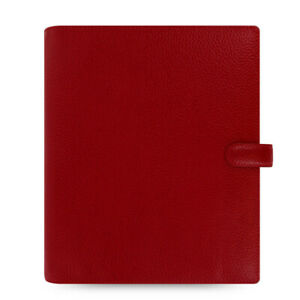 New Filofax A5 Finsbury Organiser Planner Diary Cherry Red Leather 022498
