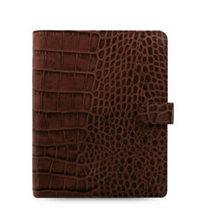 Filofax A5 Size Classic Croc Organiser Planner Diary Chestnut Leather 026017