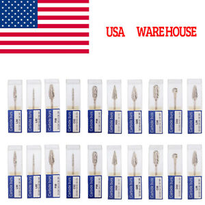 20 Packs Mixed Tungsten Carbide Steel Burs Tips For Dental Marathon Polisher Usa
