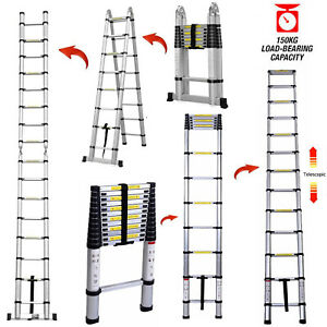 12 5ft 16 5ft Step Ladder Extensiontelescoping Lightweight Folding Telescopic