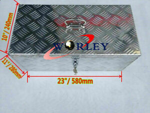 23 x11 x10 Sliver Aluminum Tool Box Pickup Truck Trunk Bed Trailer Storage lock