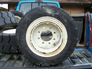 Forklift Tires 23x10 12 Solid New With Wheel