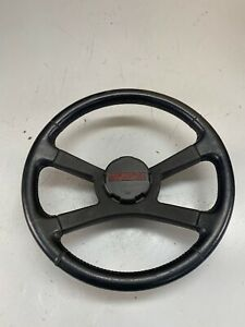 88 94 Chevrolet Gmc Truck Suv Leather Wrapped Steering Wheel With Horn Cap Oem