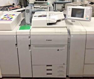 Canon Ip Color C700 Copier printer W Finisher large Pod F200 Server Low Mtr