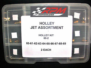 Holley Carburetor Jet Assortment Kit 60 To 69 2 Each 1 4 32 Gas Main 20pack 60 2