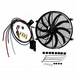 16 Inch 12v Electric Radiator Cooling Fan Thermostat Wiring Switch Relay Kits