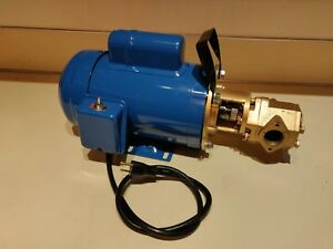 Usa 24 Gpm 1hp Wvo Wmo Gear Transfer Pump Waste Oil Svo Bio Usa