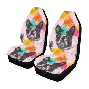 Personalized Boho Style Dog Car Seat Covers Set Of 2 Protector Auto Accessories