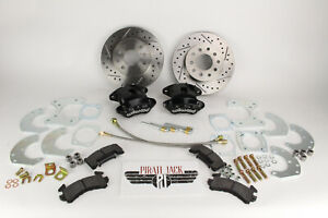 Ford 9 Rear Disc Brake Conversion With D s Rotors Black Wilwood Calipers