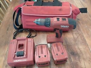 Hilti Liion Sf 10w a18 Cordless Drill Driver W Charger 2 Batteries And Bag