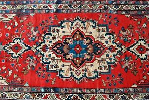 Northwest Persian Hand Knotted Semi Antique Rug 3 5 X9 6 Runner Great Condition