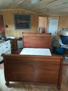 Antique Sleigh Bed And Marching Dresser