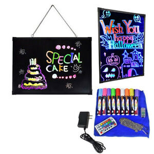 28 x20 Flashing Illuminated Erasable Neon Led Message Menu Writing Sign Board