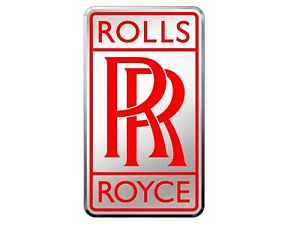 Chrome Rolls Royce Badge Red Label Car Rr Logo Emblem extra Large ready To Ship