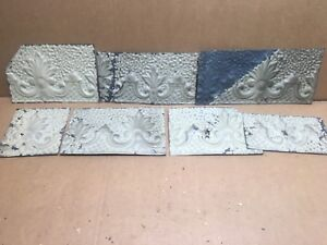 7pc Craft Lot 8 By 6 Antique Ceiling Tin Metal Reclaimed Salvage Art