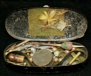 Authentic Civil War Era Mini Fishing Tackle Box