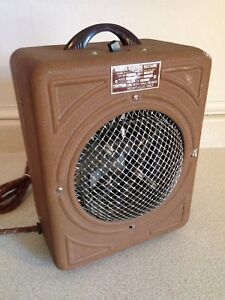 Antique 1930 S Art Deco Markel Electric Heetaire Space Heater With Dome Front