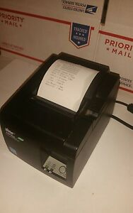 Star Micronics Tsp143iiu Thermal Receipt Printer Tsp100 Usb Eco Square Stand