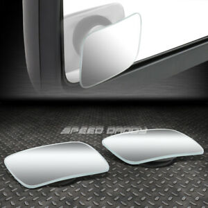 Pair 2 adjustable Square Style Convex Back rear Tow Side View Blind Spot Mirror
