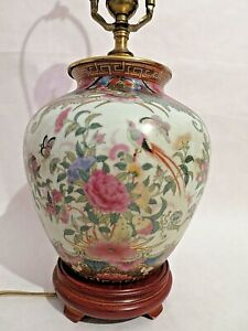 Antique Chinese Lamp Famille Rose Porcelain Lamp 20