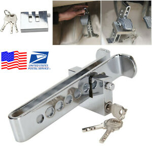 Car Anti Theft Device 8 Hole Stainless Steel Clutch Brake Security Lock Usa
